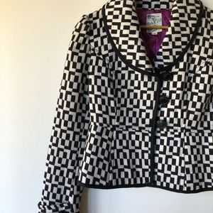 Tulle Jackets & Coats - Tulle black and white retro inspired jacket Small